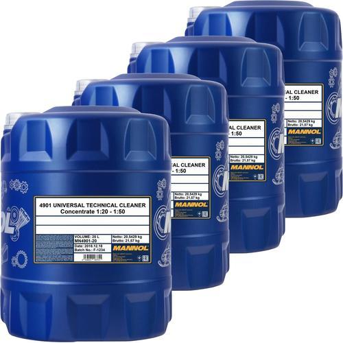 4x 20l Mannol Universal Technical Cleaner Kaltreiniger Phosphatfrei