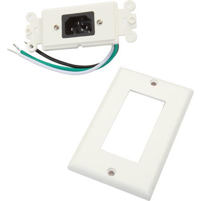 Metra ethereal IEC Wall Plate with Pigtail- White