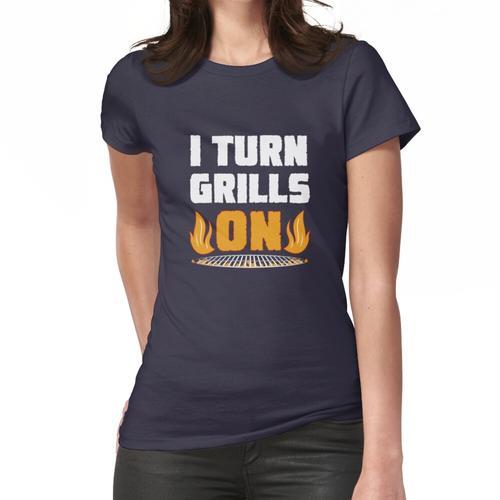 Ich mache Grills auf lustige BBQ Grill Wortspiel Witz Master Frauen T-Shirt