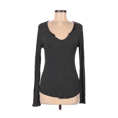 Philosophy Republic Clothing - Philosophy Republic Clothing Long Sleeve T-Shirt: Black Print Tops - Size Medium