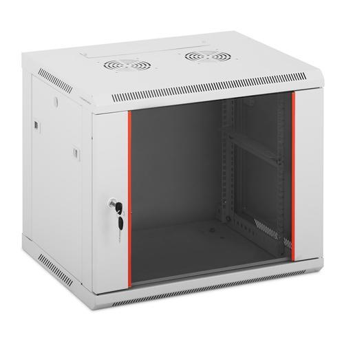 Fromm & Starck Serverschrank - 19 Zoll - 9 HE - abschließbar - bis 75 kg - grau