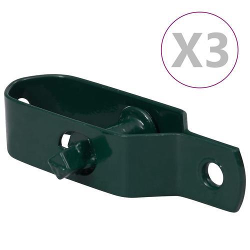 vidaXL Zaun-Drahtspanner 3 Stk. 90 mm Stahl Grün