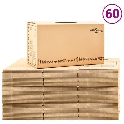 vidaXL Umzugskartons XXL 60 Stk. 60×33×34 cm