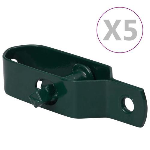 vidaXL Zaun-Drahtspanner 5 Stk. 90 mm Stahl Grün
