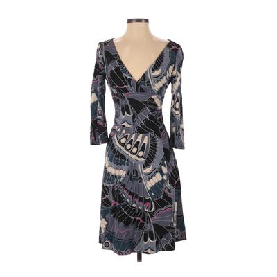 Karen Millen Casual Dress - A-Line: Blue Floral Dresses - Used - Size 4
