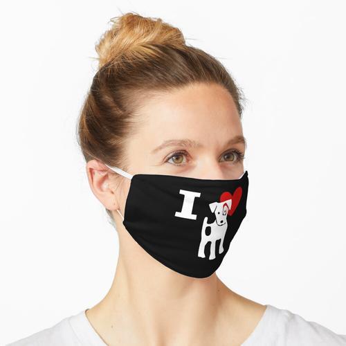 I love Jack Russel Ich liebe Jack Russel Maske