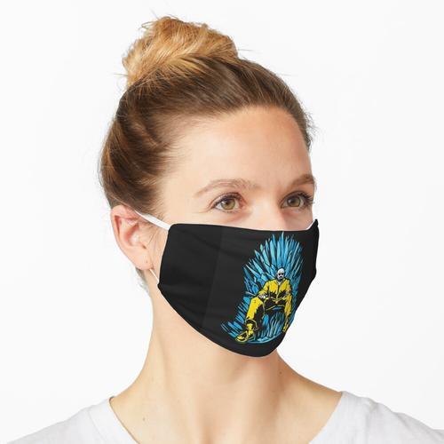 Walter White auf dem Stuhl von GOT aus Meth (Breaking Bad) Maske
