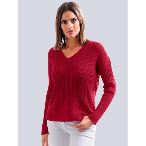 Alba Moda, Pullover aus hochwertiger Pima Baumwolle, rot