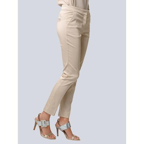 Alba Moda, Hose mit Bügelfalte, beige