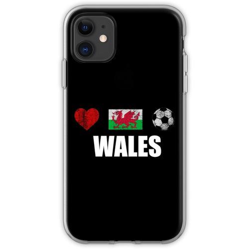 Wales Fußballtrikot - Wales Fußballtrikot Flexible Hülle für iPhone 11