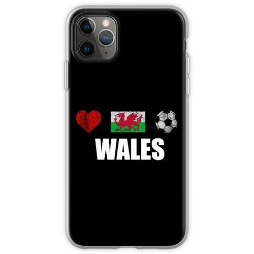 Wales Fußballtrikot - Wales Fußballtrikot Flexible Hülle für iPhone 11 Pro Max
