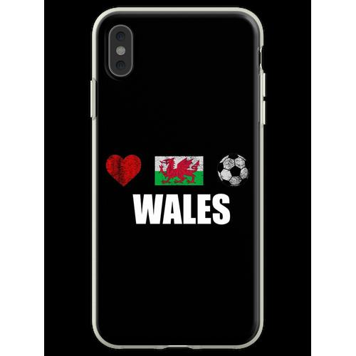 Wales Fußballtrikot - Wales Fußballtrikot Flexible Hülle für iPhone XS Max