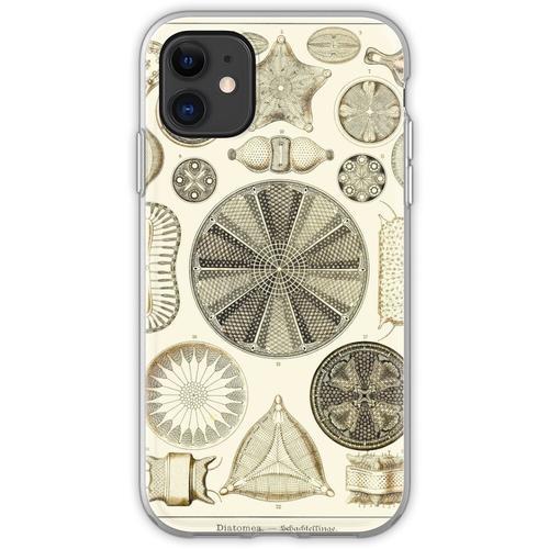 Tafel 04. Kieselalgen, mikroskopisch kleine Meerestiere. Flexible Hülle für iPhone 11