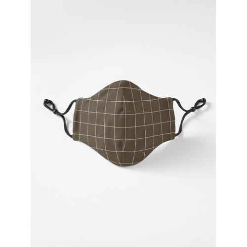 Fensterscheibe Check Grid (weiß / braun) Maske