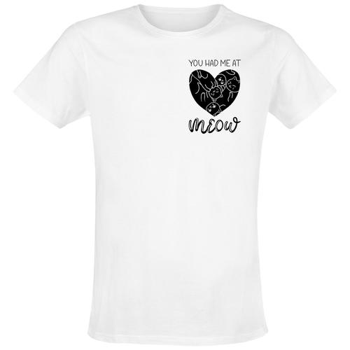 janina_miau Meow Herren-T-Shirt - weiß