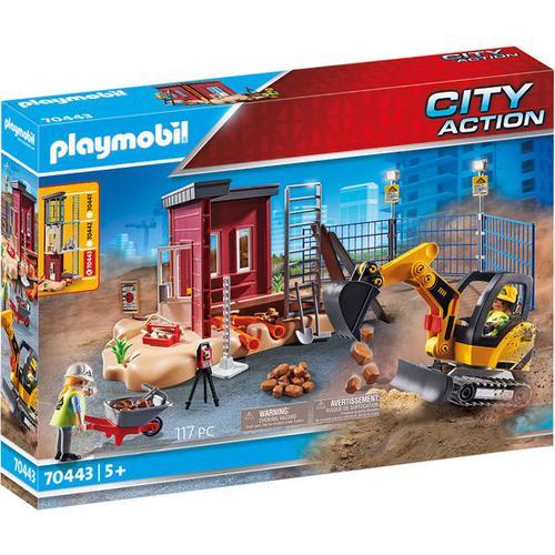 PLAYMOBIL® City Action 70443 Minibagger mit Bauteil, bunt