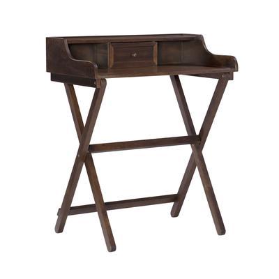 Coy Walnut Folding Desk by Linon Home Dcor in Antique Walnut