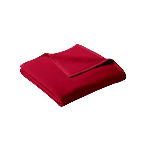 Wohndecke 'Uno Cotton' biederlack Rot