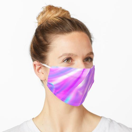Lila rosa schillernde Folie Maske