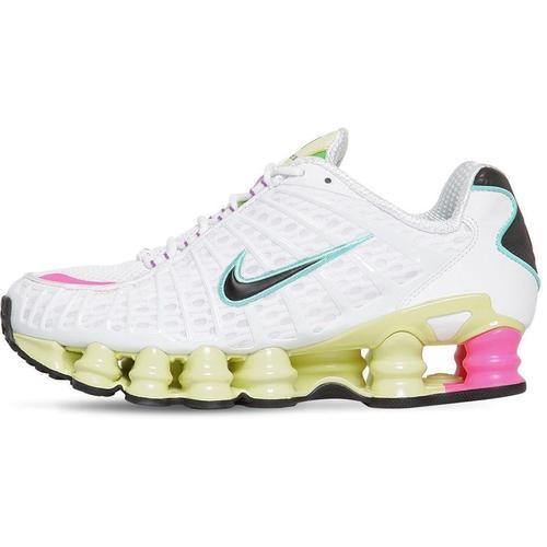 Nike Weiß Schwarz und leuchtend grün Damen Air Shox TL Schuhe