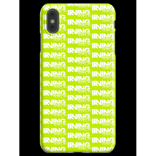 IRVING FORCE Logo GODMODE weiß iPhone XS Max Handyhülle