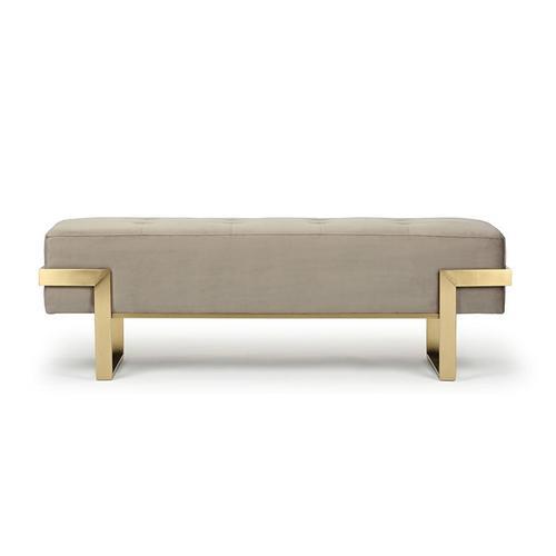 Designer Sitzbank Samt Taupe | Vertigo