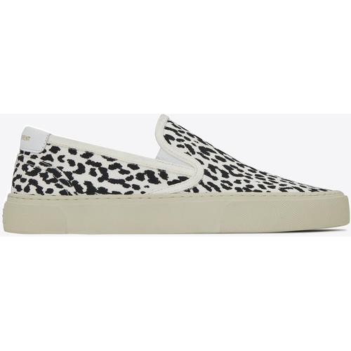 Saint Laurent Venice slip-on-sneaker aus canvas mit babykatzen-print