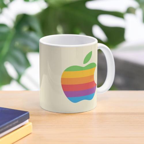 Retro Apple Logo Tasse
