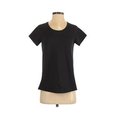 Clemintine Apparel - Clemintine Apparel Short Sleeve T-Shirt: Black Solid Tops - Size Small