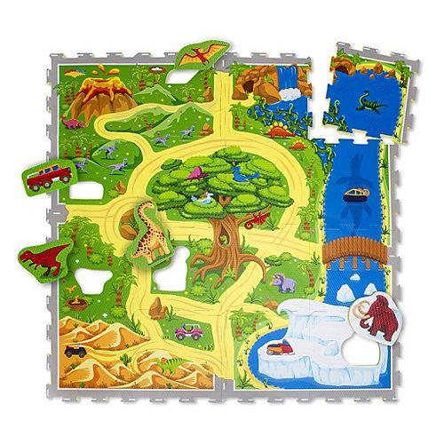 Puzzlematte Babys – Dinosauriersafari Puzzlematten mehrfarbig Kinder
