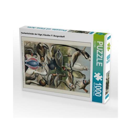 Hochzeitskleider der Vögel, Künstler: P. Mangesldorff Foto-Puzzle Bild von Jost Galle Puzzle