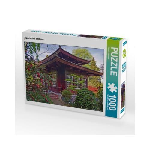 Japanisches Teehaus Foto-Puzzle Bild von Claudia Schimon Puzzle