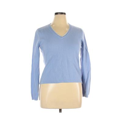 Tommy Hilfiger Wool Pullover Sweater: Blue Solid Sweaters & Sweatshirts - Size X-Large