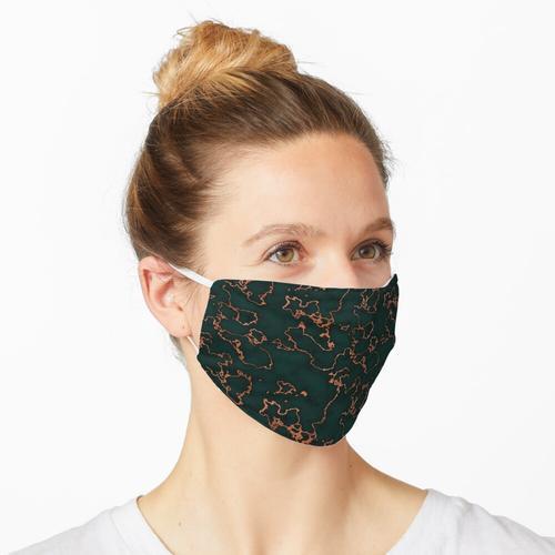 Grüner Marmor   Orangenfolie Maske