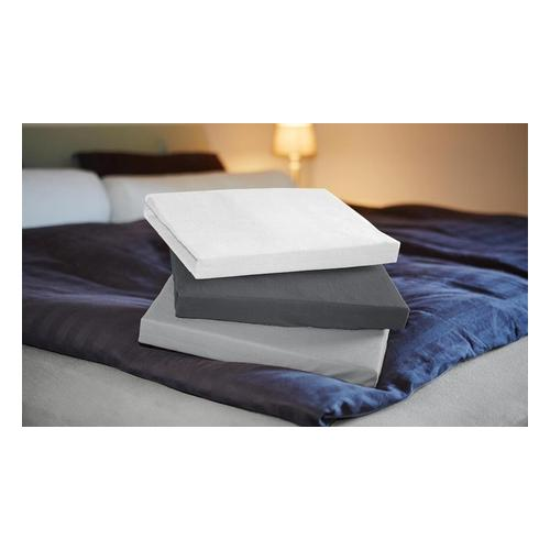 Jersey-Spannbettlaken: Weiß / 180-200 x 200 cm / 1