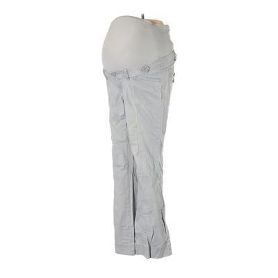 Mimi Maternity Khaki Pant: Gray ...