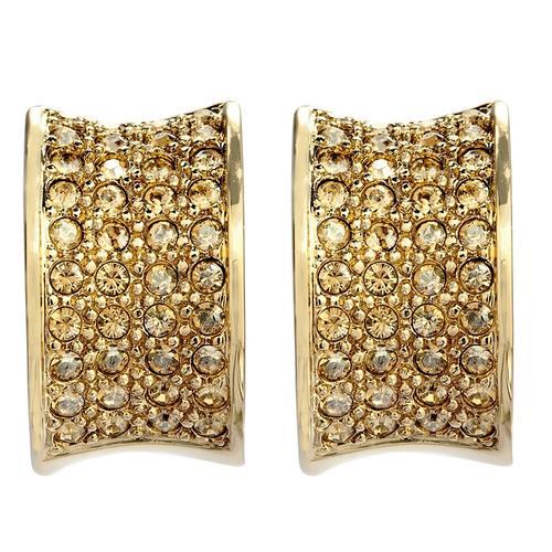 Pippa & Jean Paar Creolen Set: PJ187, (2 tlg.), verziert mit Kristallen von Swarovski goldfarben Damen Ohrringe Schmuck