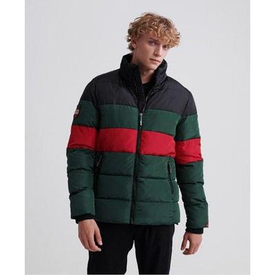 Colour Stripe Sports Puffer - Green - Superdry Jackets