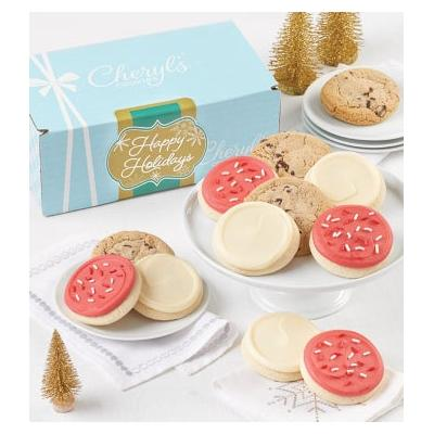 Sparkling Happy Holidays Bow Gift Box 24Ct