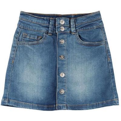 Jessica Simpson Big Girls Button Down Denim Skirt