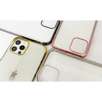 Coque en TPU galvanisé pour iPhone avec 2 protections d écran : iPhone XR / Or