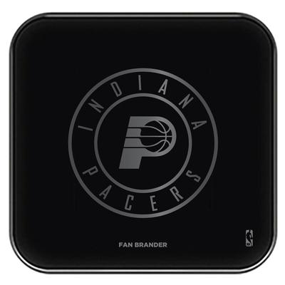 """Indiana Pacers Black Fast Charging Glass Wireless Charge Pad"""