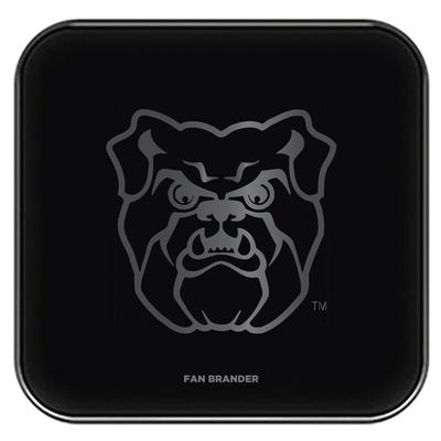 """Butler Bulldogs Black Fast Charging Glass Wireless Charge Pad"""