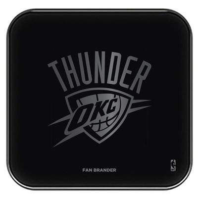 """Oklahoma City Thunder Black Fast Charging Glass Wireless Charge Pad"""