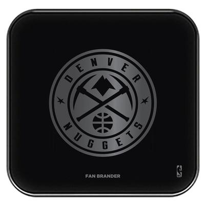 """Denver Nuggets Black Fast Charging Glass Wireless Charge Pad"""