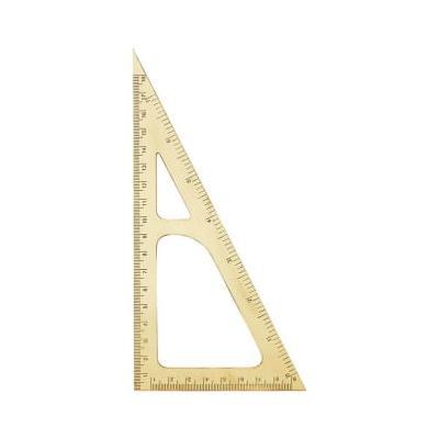 Monograph - Triangle Ruler Brass 18cm