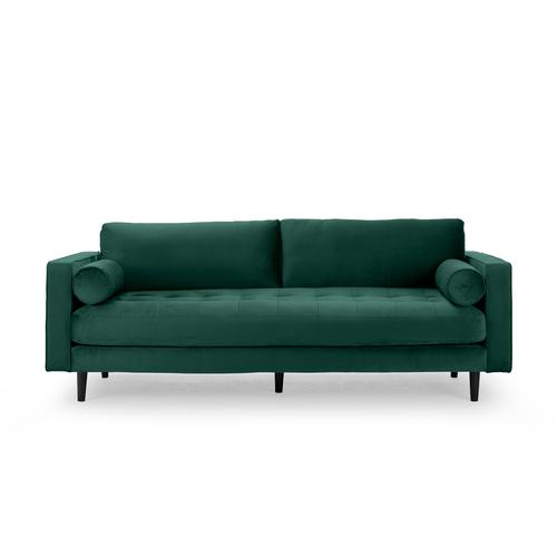 Sofa 3-Sitzer samt grün 224 cm Merini