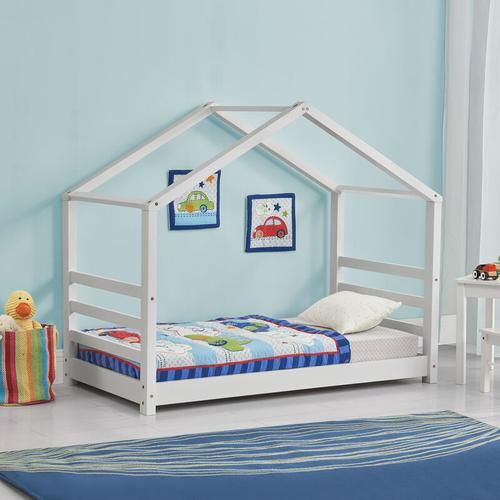 Kinderbett Vardø 80x160 cm mit Lattenrost Weiß