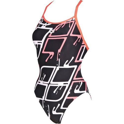 ARENA Damen Wettkampf Badeanzug Blare Lining, Größe 40 in BLACK-SHINY PINK