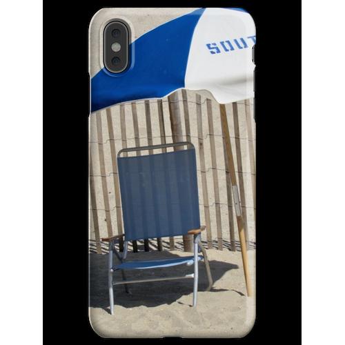 Liegestuhl und Sonnenschirm iPhone XS Max Handyhülle